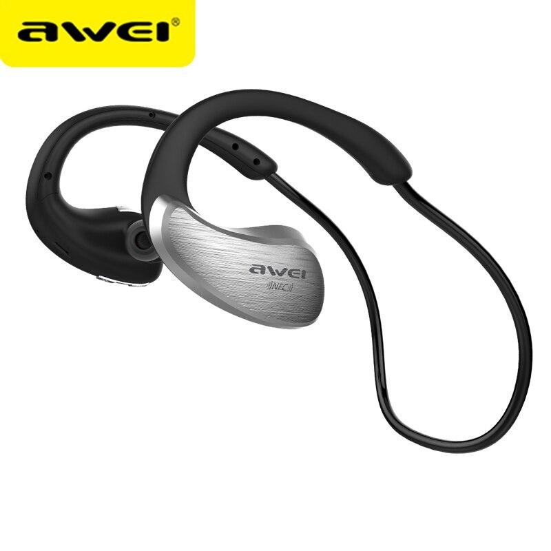 AWEI A885BL Bluetooth Earphones Wireless Headphone With Microphone NFC APT-X Sport Headset Cordless Earpiece kulakl k big bluetooth wireless headphone earphones