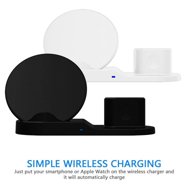 Image 2 - Tongdaytech 10W Qi Wireless Charger For Iphone X XS XR 8 Plus 11 Pro Max 3 IN 1 Fast Chargeur Quick Charge For Apple Watch Airpods 4 3 2 1 Cargador Inalambrico-in Mobile Phone Chargers from Cellphones & Telecommunications