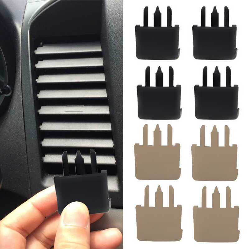 For Toyota Corolla Sagitar 4 PCS Air Conditioning Vent Car Center Dash A/C Vent Louvre Blade Slice Air Conditioning Leaf Clip