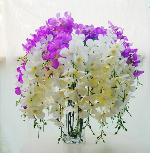 3 Teste Pervinca Wisteria Trasporto Libero Bianco Viola Glicine Decorazione Fiore  Fiori Artificiali Della Festa Nuziale