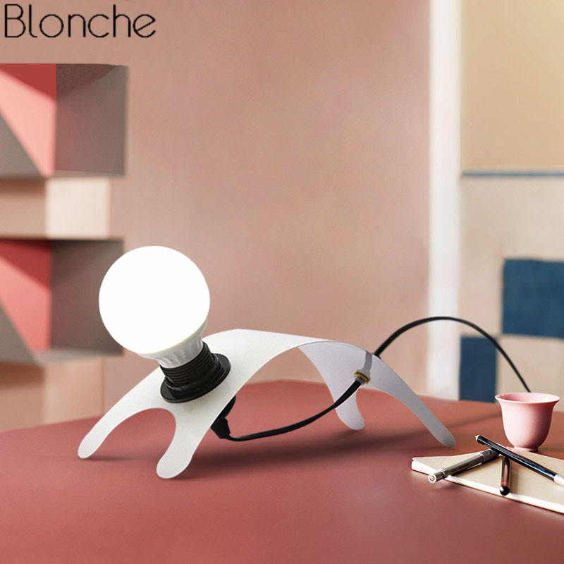 Nordic Design Table Lamp Led Puppy Desk Lamp for Bedroom Office Reading Home Decor Light Fixtures Novelty Study Bedside Lamp E27 набор раскрась и собери калейдоскоп