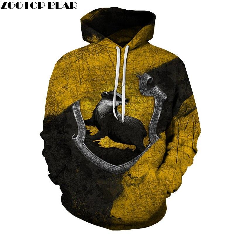 Animal Digital Men Hoodie Casual Movie Game Long Sleeve 3D Print Pullovers Fashion Anime Sweatshirts Streetwears ZOOTOP BEAR