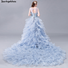 darlingoddess Romantic A-Line Wedding Dress Plus Size Train