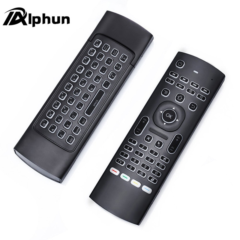 Alphun Quality Black MX3 Backlight 2 4G Wireless Keyboard Controller Remote Control Air Mouse For Smart