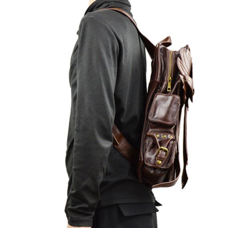 Mode gotisk steampunk skalle retro rock väska män kvinnor punk - Bälten väskor - Foto 4
