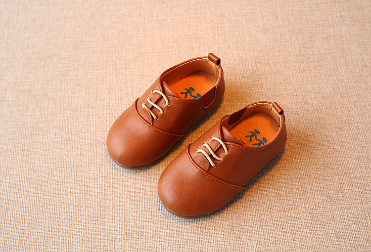Spring Children Casual Shoes Baby Boys England Style Leather Shoes Girls Soft Bottom Shoes Kids Flats High Quality Sneakers C243 11