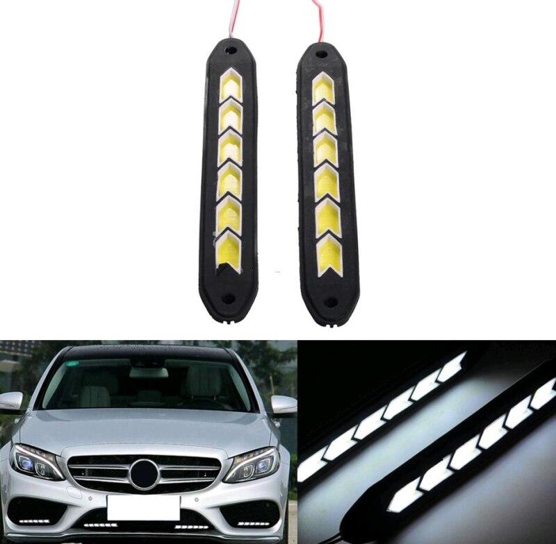 2шт LED автомобиль белого дневного света дневного света DRL туман вождения лампы 12 В постоянного тока