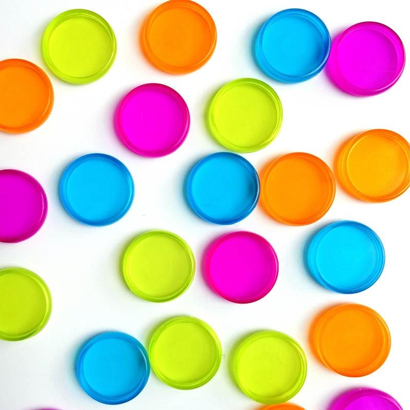 10Pcs Colorful Round Rings Plastic Mushroom Hole Loose Leaf Ring Book Binding Disc Buckle Hoop DIY Binder Notebook Office Rings