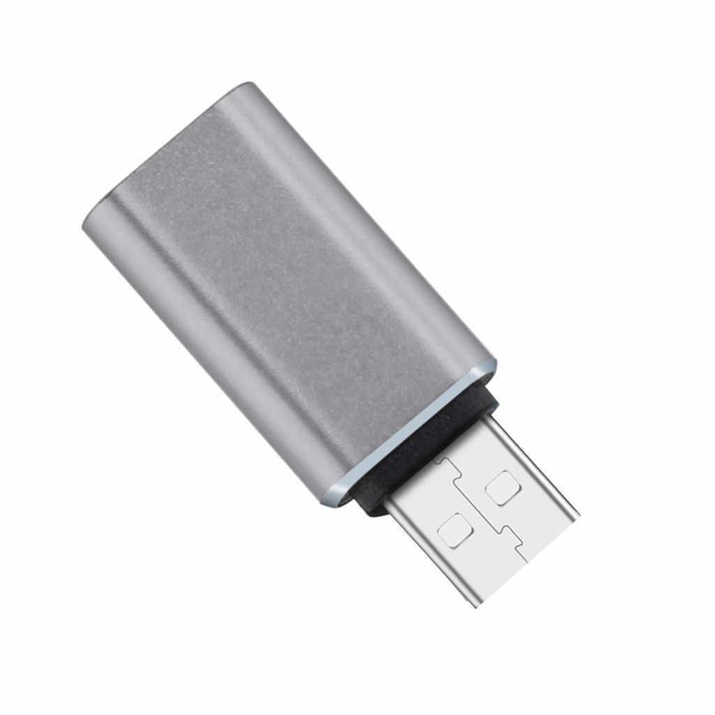 USB 2,0 tipo B macho a USB 3,1 tipo C de alta velocidad de carga y transferencia de datos Micro hembra adaptador de convertidor de carga de datos # T2