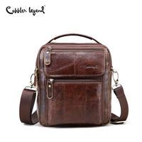 Cobbler Legend Genuine Leather Mens Bags Small Flap Casual Messenger Bag Male Crossbody Bags Men S