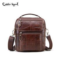 Cobbler Legend Genuine Leather Mens Bags Small Flap Casual Messenger Bag Male Crossbody Bags Men S