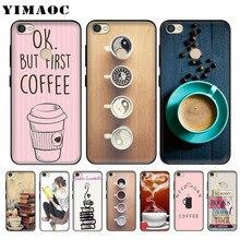 YIMAOC Ok But First Coffee Book Soft Case for Xiaomi Redmi 4A Note 4X 5 Plus 5A Pro Prime