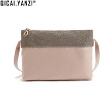 2017 Women Lady Fashion PU Leather Shoulder Crossbody Bag Totes Small Satchel Bag Pink Mujer Purse Sequin High Quality P338