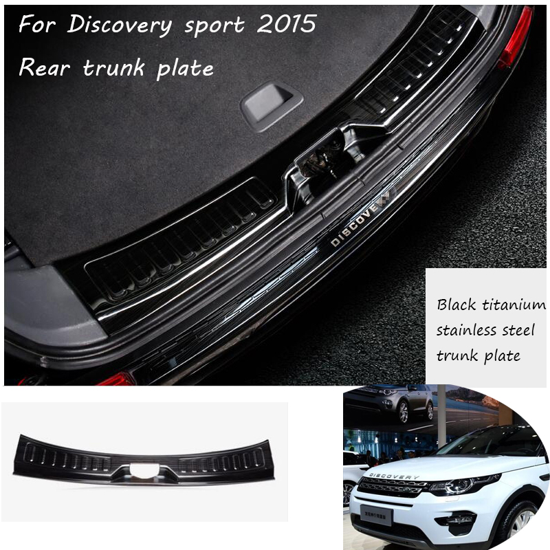 Rear Bumper Protector Tail Tailgate Trunk Guard Car styling sticker Car Accessories For Land Rover Discovery Sport 2015