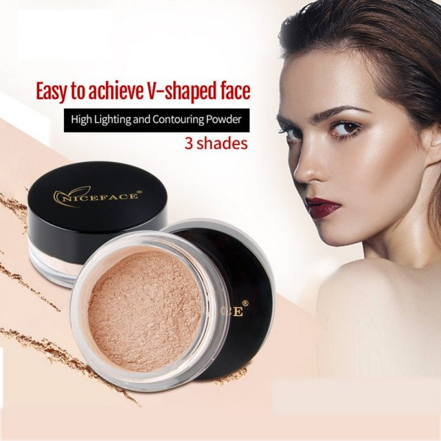 Loose Powder Pearl Shimmer Face Makeup Finishing Foundation Beauty Makeup Highlighter Powder 1