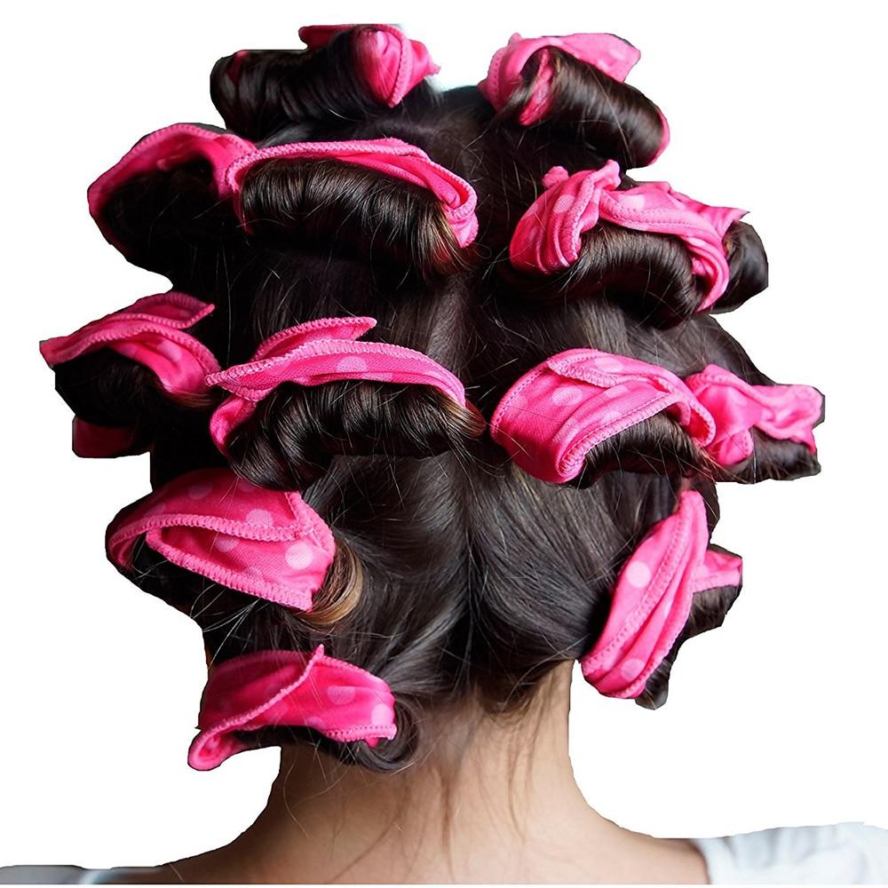 6pcs set magic sponge pillow soft roller hair best flexible foam and sponge hair curlers diy styling hair rollers tool for women in hair rollers from beauty