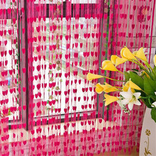 Unique Shower Curtain Curtains Cute Heart Line Tassel String Door Window Room Valance