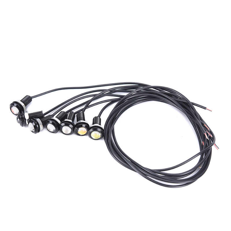 1 قطعة 12 فولت LED 18 مللي متر النسر العين ضوء مصباح عالي الطاقة النهار تشغيل ضوء أضواء وقوف السيارات الضباب لمبة احتياطية DRL سيارة التصميم