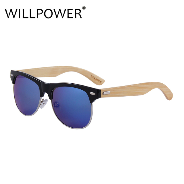 8155c14319a WILLPOWER 2018 High Quality Fashionable Men Sunglasses Popular Bamboo Wood  Women Sunglass