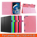 Business Tablet case for Lenovo Tab2 X30 A10-30 10.1 inch Full Body Protect Book Style Cover Anti-Dust Flip