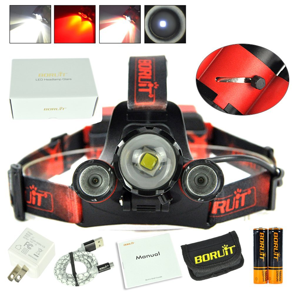 CREE XML L2 led Zoomable Headlamp red green blue Fishing 4-Mode Head Lamp light torch Hunting Headlight+18650 Battey+USB charger cree xml l2 led zoomable headlamp red green blue fishing 4 mode head lamp light torch hunting headlight 18650 battey usb charger