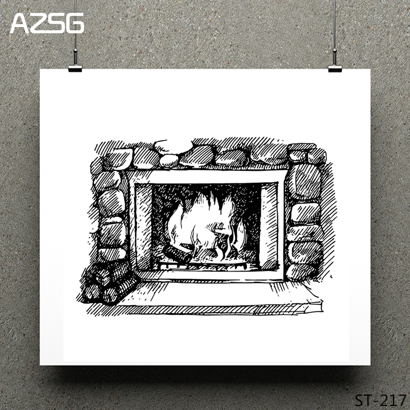 Warm fireplace Clear Stamps seal for DIY Scrapbooking Card Making Photo Album Decoration Supplies in Stamps from Home Garden