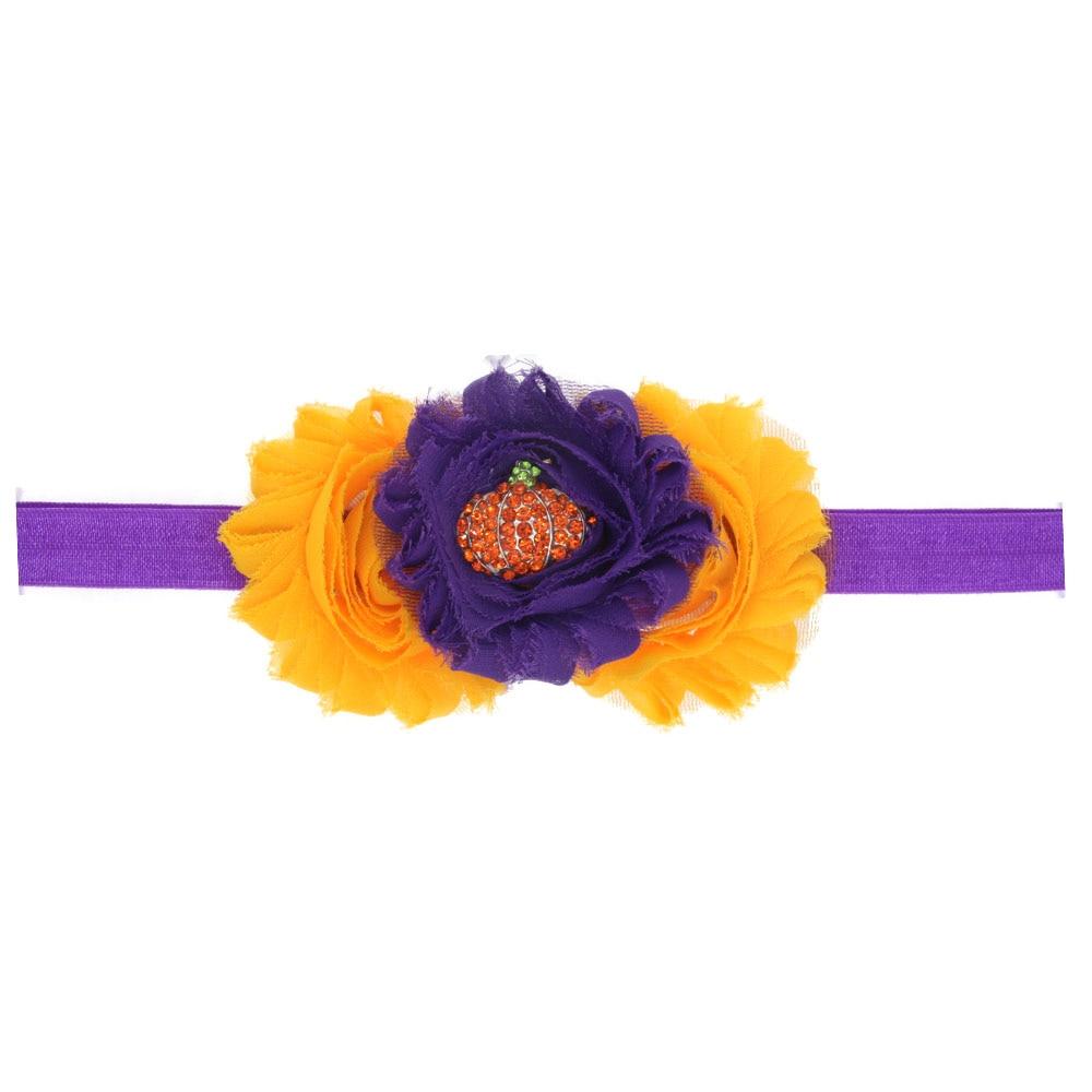 Newborn Flower Drill Pumpkin Halloween Headband 2019 Hair Accessories For Girls/Boys Holiday Party