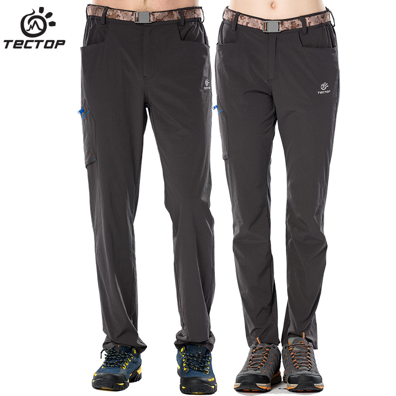 Tectop men/women Outdoor sports Quick Dry Pants Spring and Summer Travel Trousers Hiking ultra-thin ultra-light Pants 6365