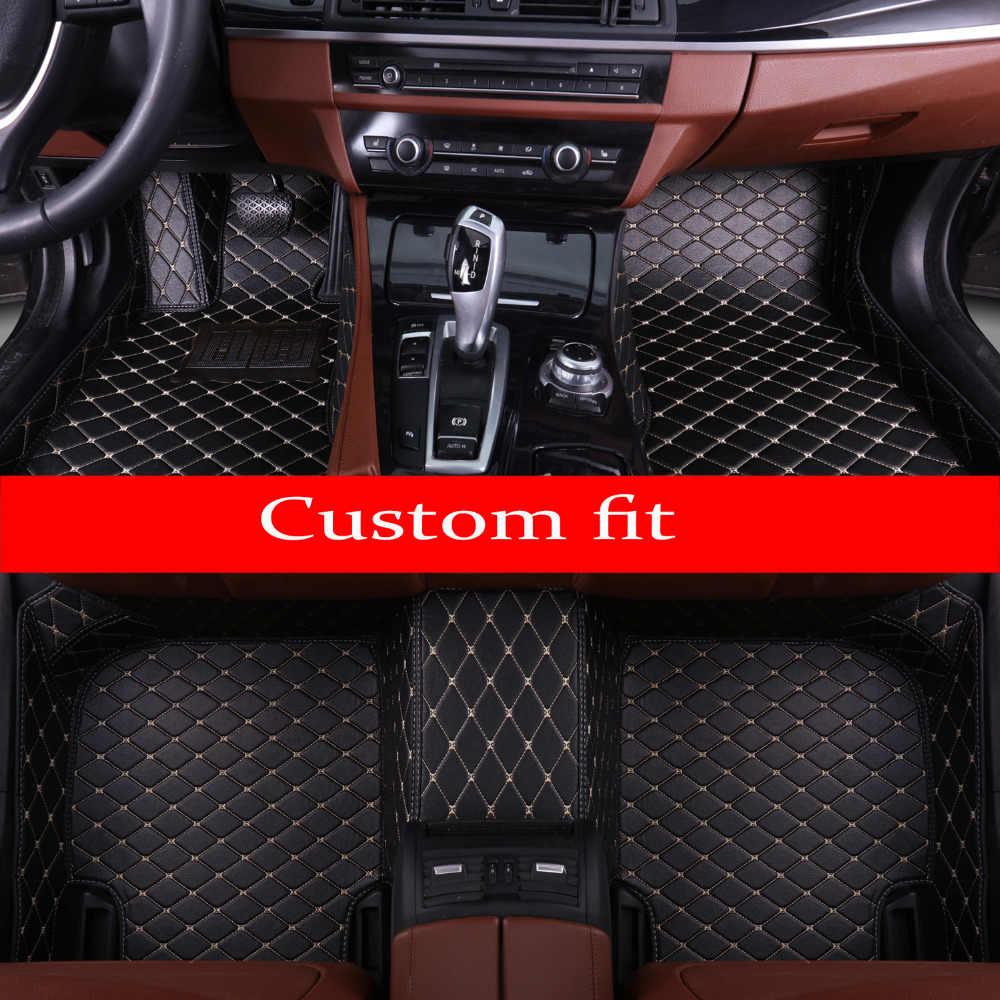 Araba paspaslar için Hyundai ix25 ix35 Elantra Santa Fe Sonata Solaris Veloster Su Geçirmez deri halı gömlekleri