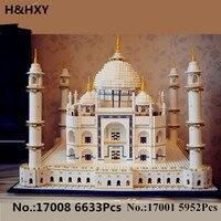 H & HXY в наличии Новый 17001 5952 шт. 17008 6633 шт. в модель Тадж Махала Лепин Набор строительных кубиков игрушки 10189 Рождественский подарок