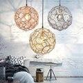 LukLoy moderna lámpara colgante con forma de marco de diamante con forma de bola nórdica para cocina salón tienda restaurante Bar Decoración