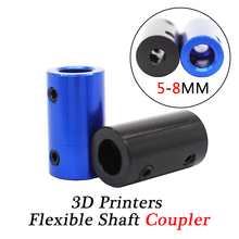 3D Printers Parts Flexible Shaft Coupler 5-8mm step motor and screw connecting parts aluminum alloy connector 1pc цены