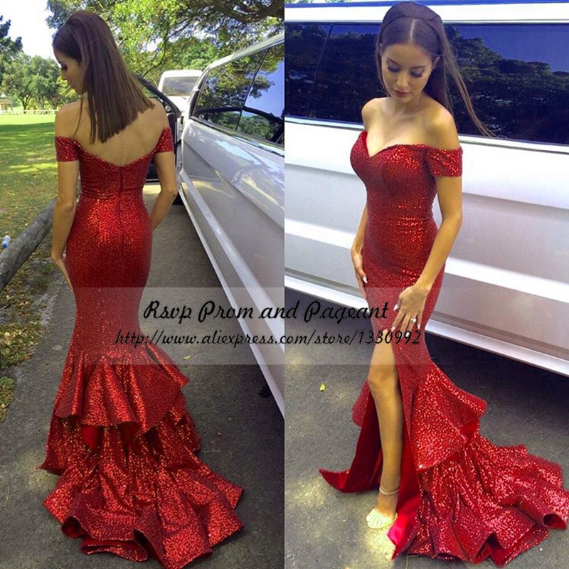 Popular Red Mermaid Prom Dresses-Buy Cheap Red Mermaid Prom ...