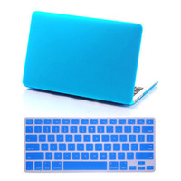 Nieuwe Hoge Kwaliteit Rubber Hard Case Shell + Siliconen Toetsenbord Cover voor Macbook Pro 13/15