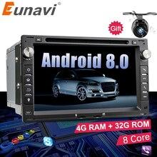 Eunavi Octa Core 4 ГБ Оперативная память 2 din Android 8,0 7 »автомобильный DVD gps Navi для VW Glof бора passat Mk5 Гольф Mk4 поло Jetta сиденья peugeot 307