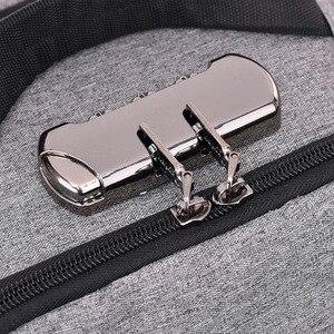 Image 2 - J & Q 2019 Yeni Moda Stil Anti Hırsızlık kilitli çanta Iş rahat sırt çantası Özel Kodlu Kilit USB Şarj Akıllı Fonksiyonel Sırt Çantası