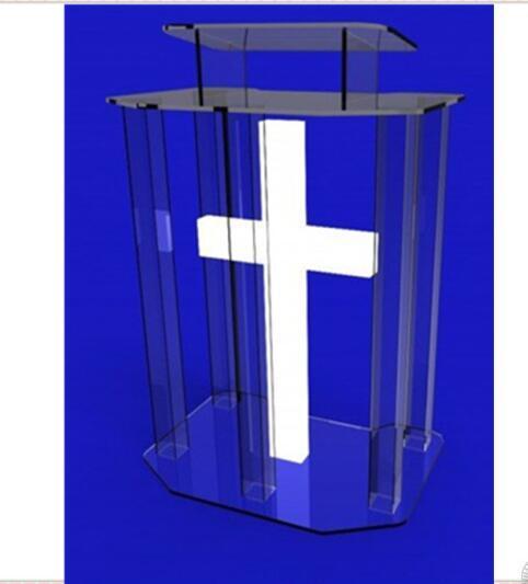 Экологические прозрачный акриловый трибуна стекла трибуна для церкви оргстекло, акрил трибуна