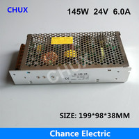 145W 24V Switching power supply 6A Single Output 220V Input S 145W 24V for LED Strip light Regulate AC to DC Led Switch Power