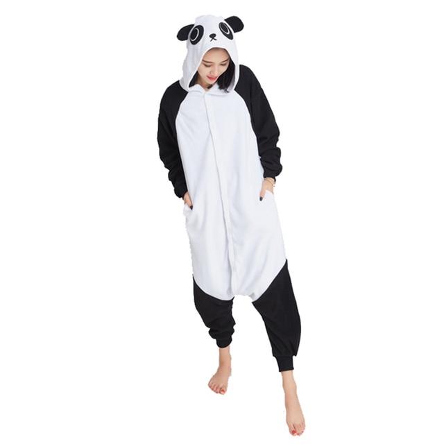 5ba858222966a8 R$ 121.18 |Ensnovo Adulto Unisex Panda Onesie Pijama Kigurumi Traje Animal  Pijamas Homewear Mulheres Com Capuz Onesies Dos Desenhos Animados Casa ...