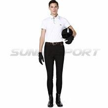 Бриджи для езды трикотажные нейлоновые хлопковые высокие эластичные мужские рыцарские штаны