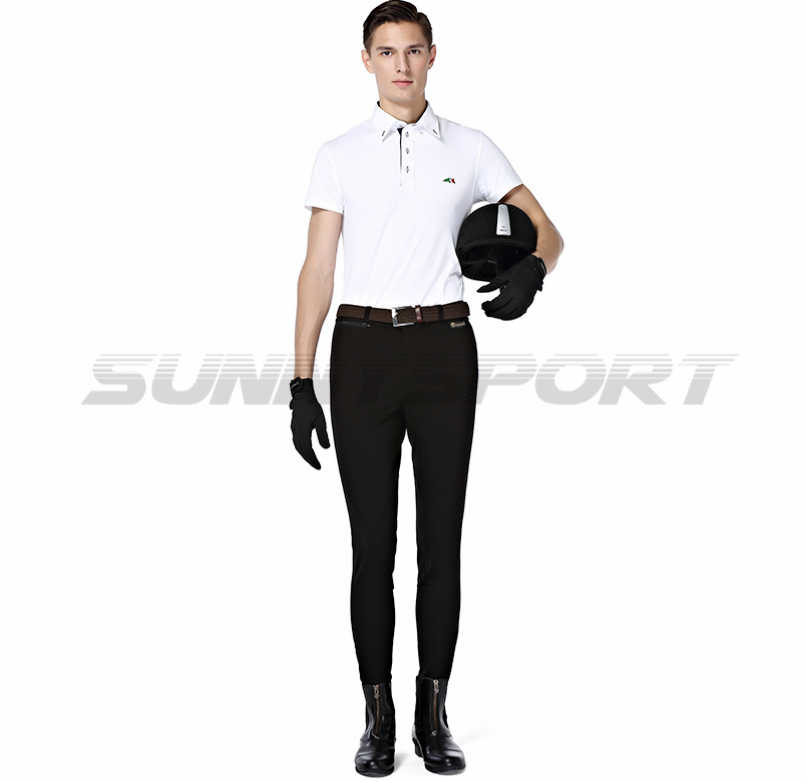 Riding breeches knitted nylon cotton high elastic male Knight pants