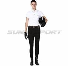 Pantaloni per equitazione nylon lavorato a maglia cotone di alta elastico maschile pantaloni Cavaliere