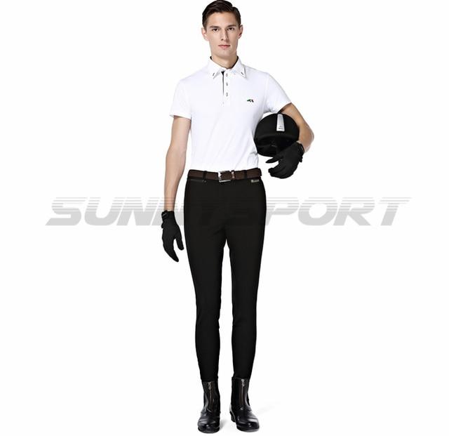 Quần ống túm cưỡi dệt kim nylon bông đàn hồi cao Knight nam quần