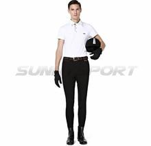 Spodnie jeździeckie z dzianiny nylonowej bawełny o wysokiej elastyczności męskie spodnie rycerskie