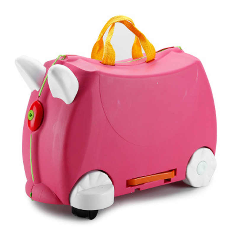 ニューキッズかわいいスクーターローリングスーツケース PP オートバイ形状乗馬トロリー荷物袋ための車輪の上 2-12 年歳の子供