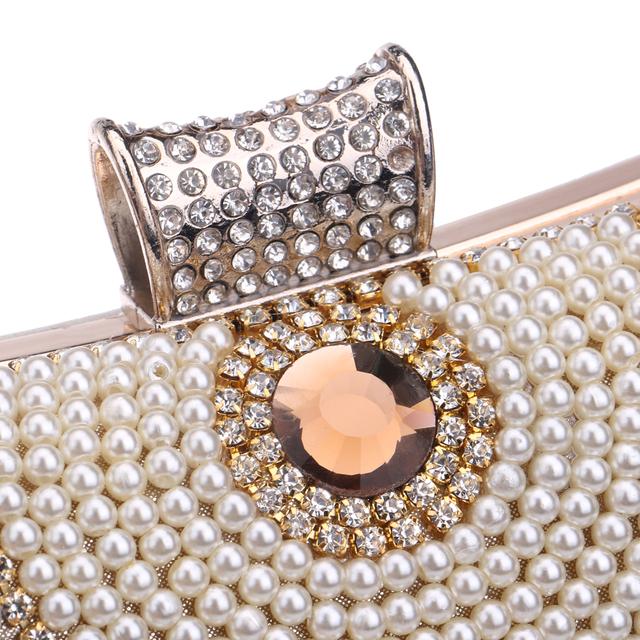 Beaded Women Tassel Rhinestones Metal Clutch