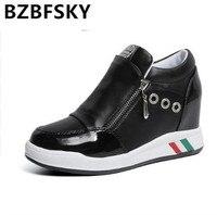 Hidden Heels Platform Wedges Sneakers Women Shoe off white High Heels Footwear Tenis Feminino Casual Basket Femme calzado mujer