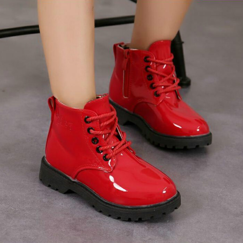 Children girl boots 2018 autumn winetr kids snow boot shoes martin boots zipper boys and girls non-slip outdoor waterproof shoes