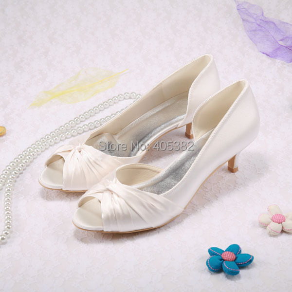 Popular Low Heel Ivory Wedding Shoes-Buy Cheap Low Heel Ivory ...