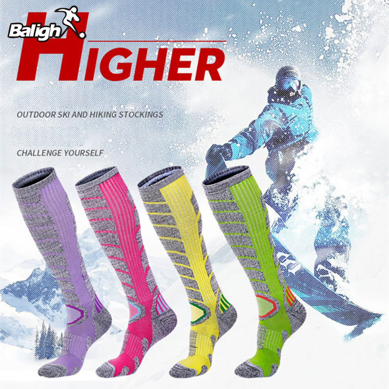 Ski Socks Thick Cotton Sports Snowboard Cycling Skiing Soccer Socks Men Women Moisture Absorption High Elastic Socks